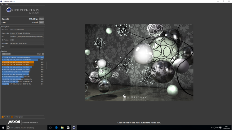 Cinebench OC