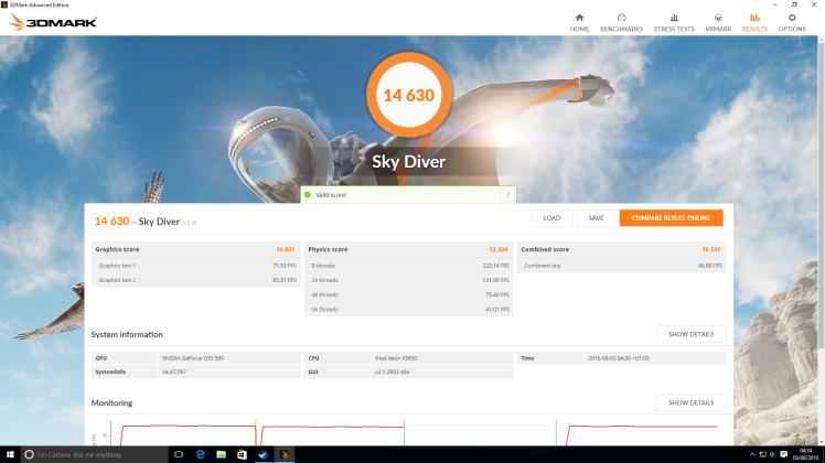 Sky Diver OC - Run 2